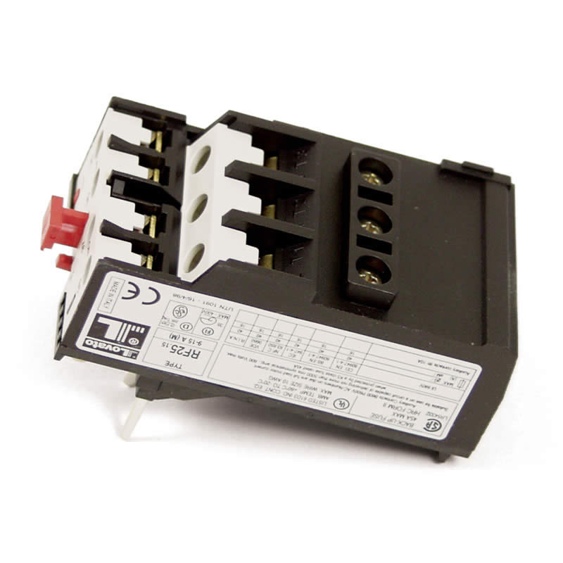Thermal overload auto 20 33 amp contactor type c d for Manual motor starter with overload protection